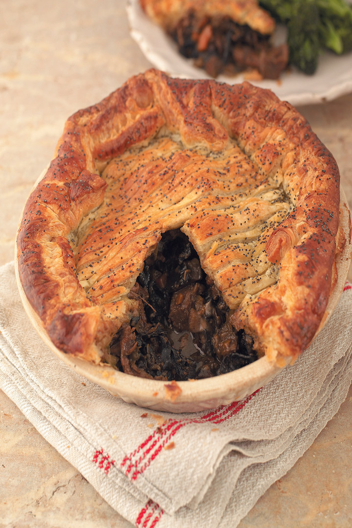 Steak and mushroom pie recipe