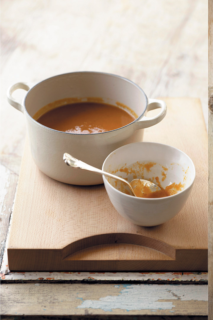 Carrot and orange winter soup recipe