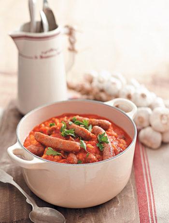 Sausage cassoulet recipe