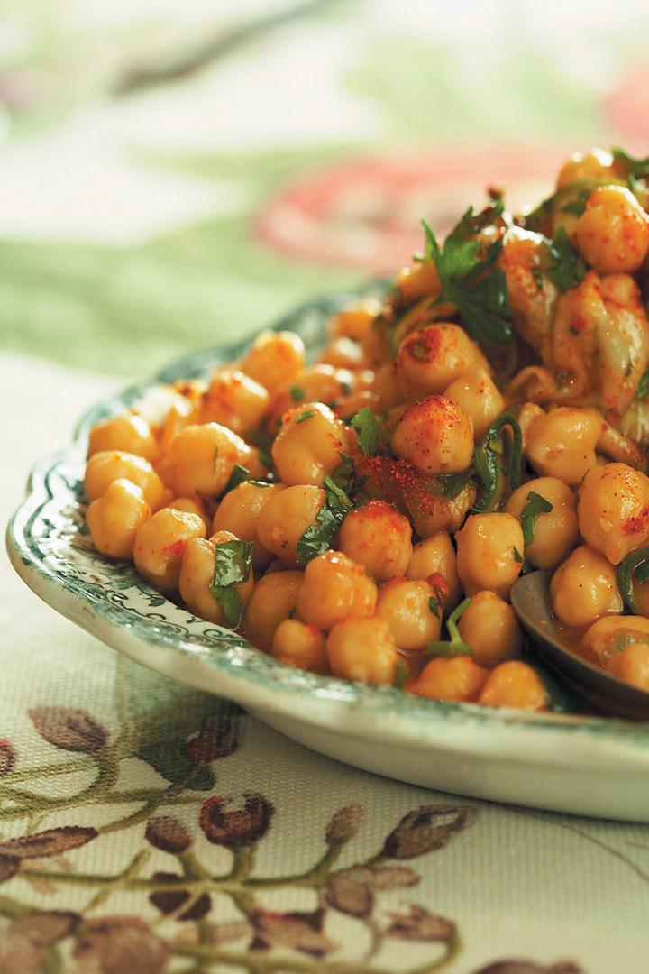 Harissa chickpea salad recipe