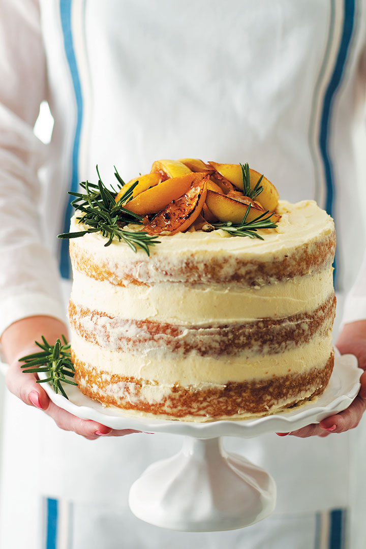 Lemon Rosemary Layer Cake