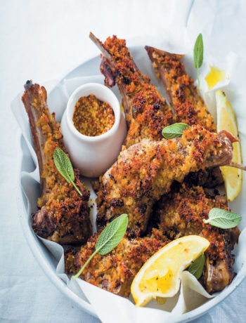 Mustard, sage and Gruyère crumbed lamb chops recipe