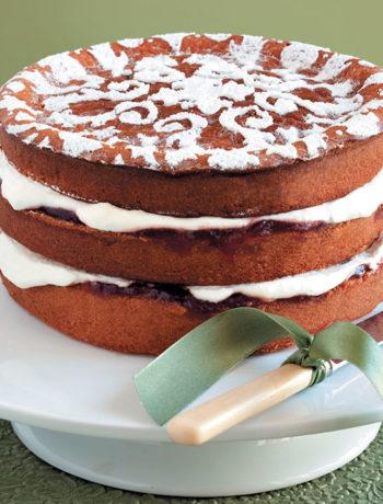 Marzipan sponge cake
