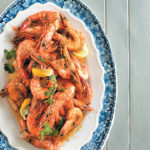 Peri-peri prawns in beer sauce