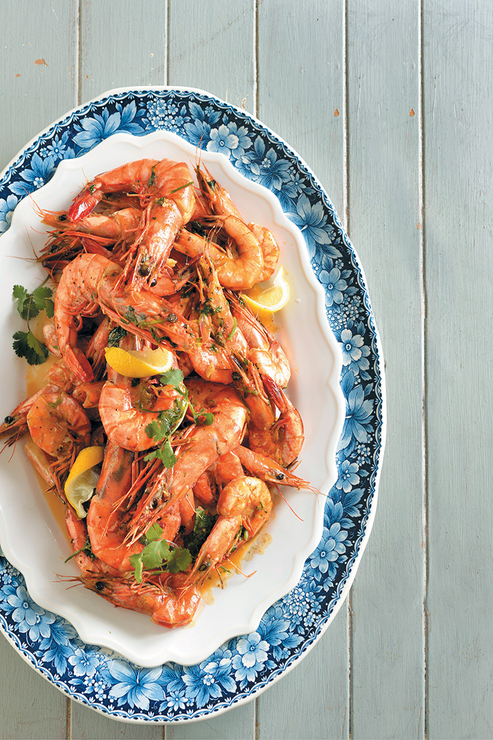 Peri Peri Prawns In Beer Sauce
