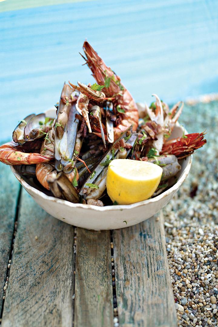 Smoky barbecued shellfish recipe