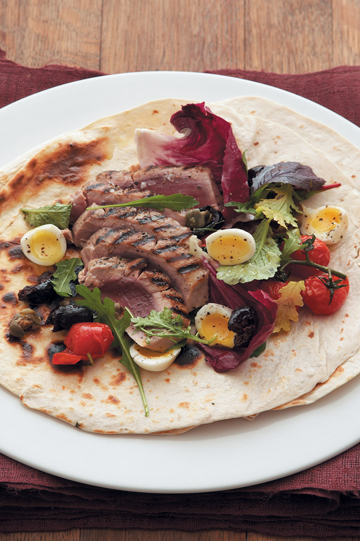 Tuna Niçoise salad wrap recipe