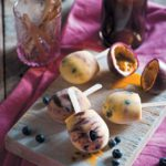 Blueberry, yoghurt and granadilla lollies