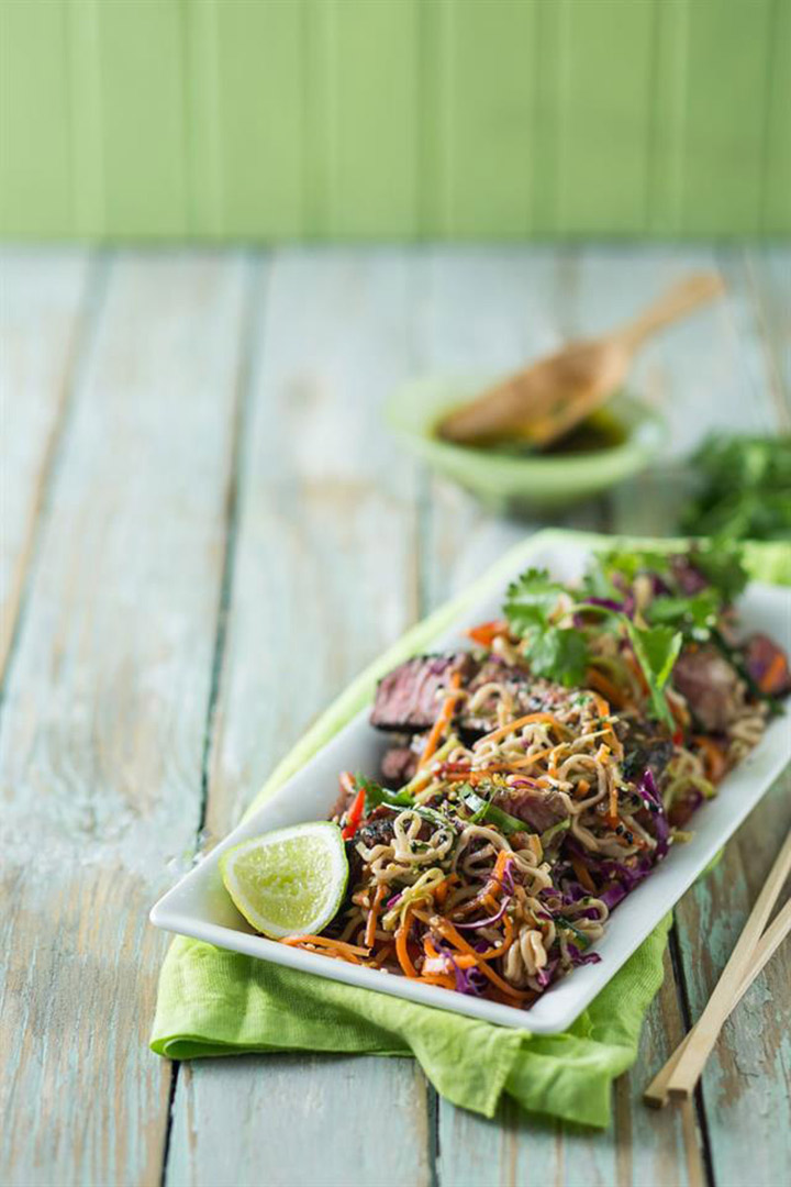 Crunchy Thai beef salad recipe
