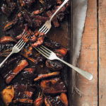 Slow-roasted Irish whiskey and thyme sticky beef short ribs