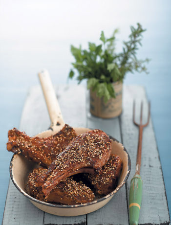 Za'atar-crusted lamb chops recipe