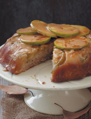 Upside down apple, cinnamon and butterscotch cake
