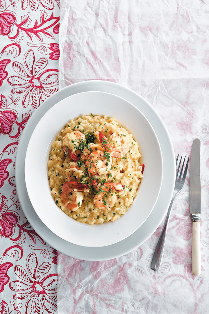 Prawn and chilli risotto recipe
