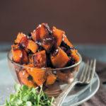 Pumpkin fritters with caramel sauce