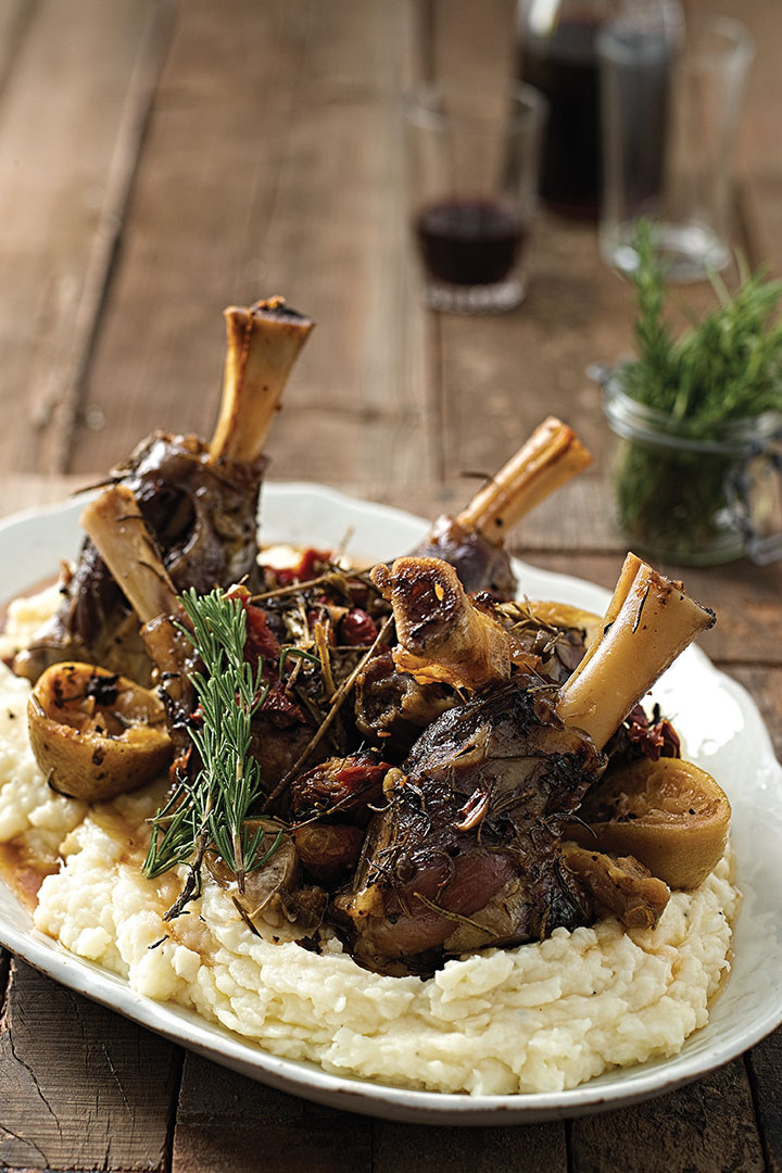 Slow Roasted Mediterranean Lamb Shanks