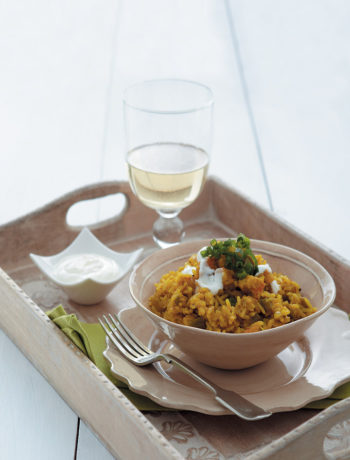 Spiced prawn pilau recipe
