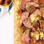 Rack of lamb roasted on a bed of fennel and figs