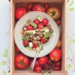 Chunky tomato, chickpea and aubergine salad