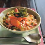 Cannellini bean, bacon, rosemary and spinach soup