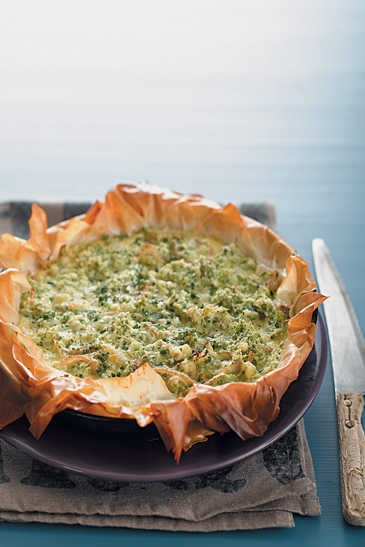 Baby marrow, ricotta and Parmesan tart recipe