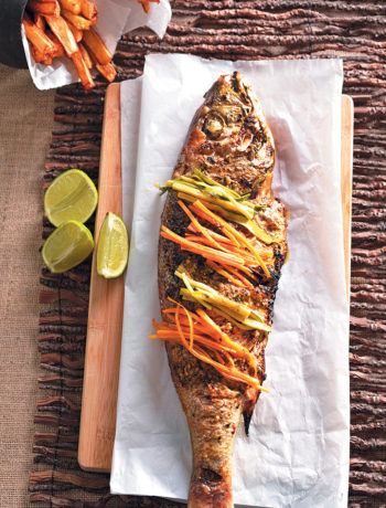 Chermoula-coated grilled silvers recipe