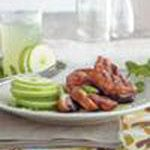 Cranberry-glazed duck breast with green apple salad