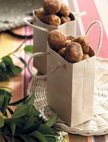 Hake, spring onion and coriander balls recipe