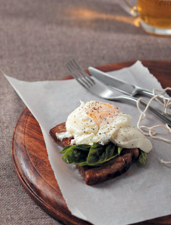 Rump steak with buffalo mozzarella, basil and egg recipe