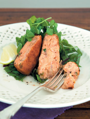 Salmon croquettes with watercress and sorrel recipe