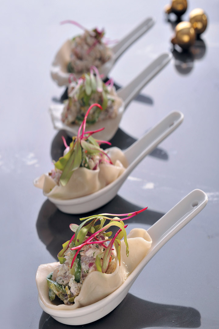 Wonton filled with line fish tatane recipe