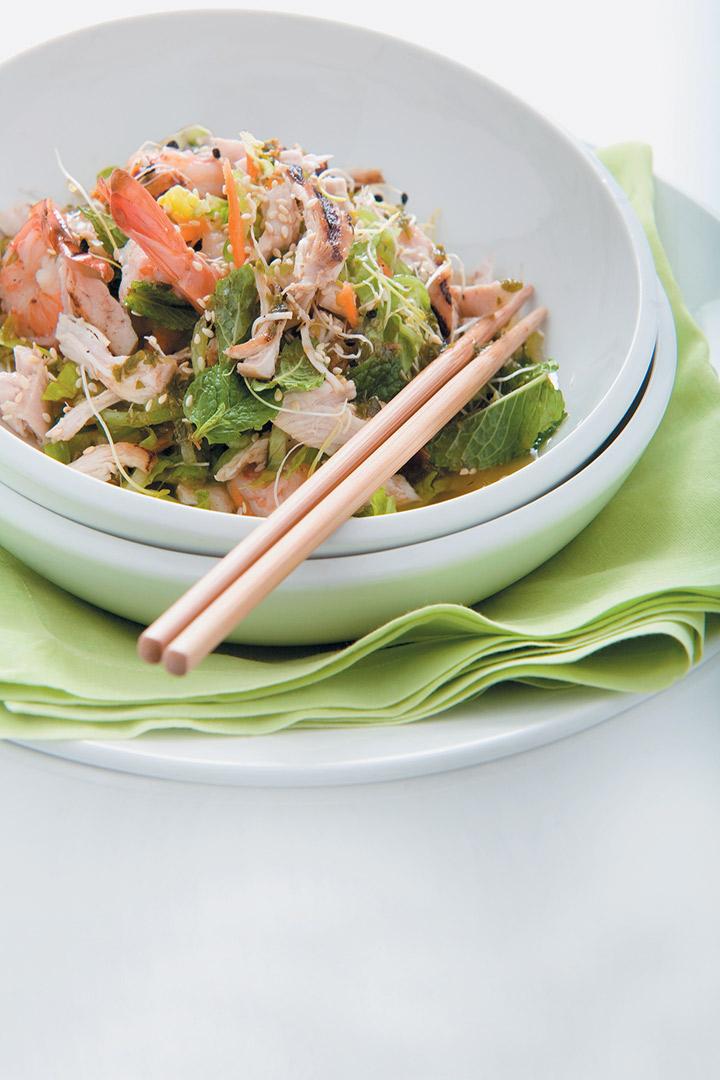 Chicken and prawn salad recipe