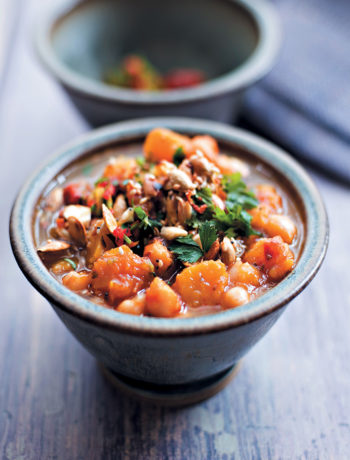 Chunky butternut and chickpea soup recipe