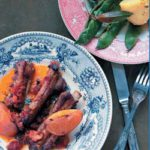 Baked pork ribs with orange
