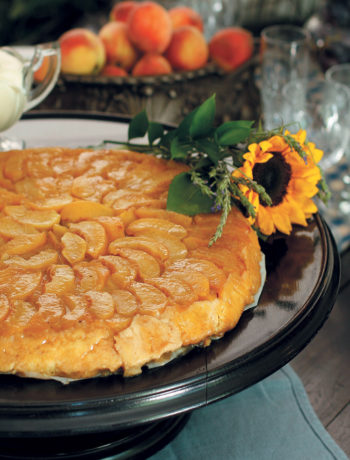 Peach tarte tatin recipe