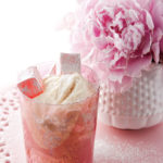 White chocolate and vanilla mousse with rose-water Turkish delight