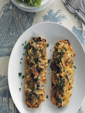Bacon and creamy mushroom rarebit recipe
