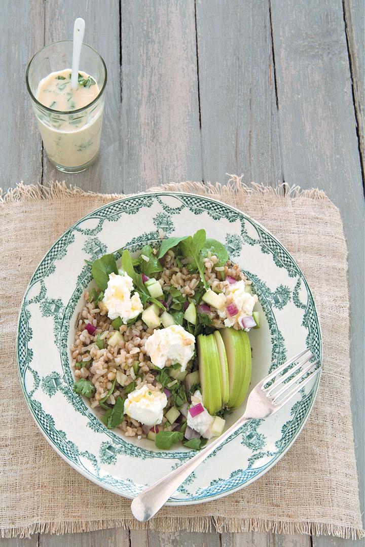 Brown rice and barley salad recipe