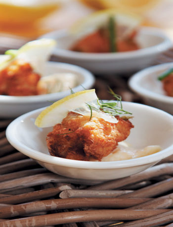 Butterfish cakes with lemony mayonnaise recipe