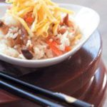 Gomoku maze gohan (steamed rice with vegetables and chicken)