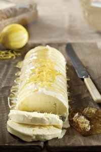 Honey and lemon semifreddo