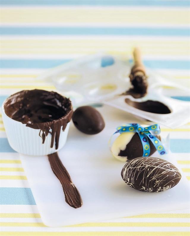 How to make chocolate eggs