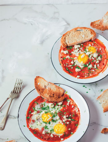 This North African and Middle Eastern Shakshuka dish is a delicious combination of eggs, tomatoes and spices.