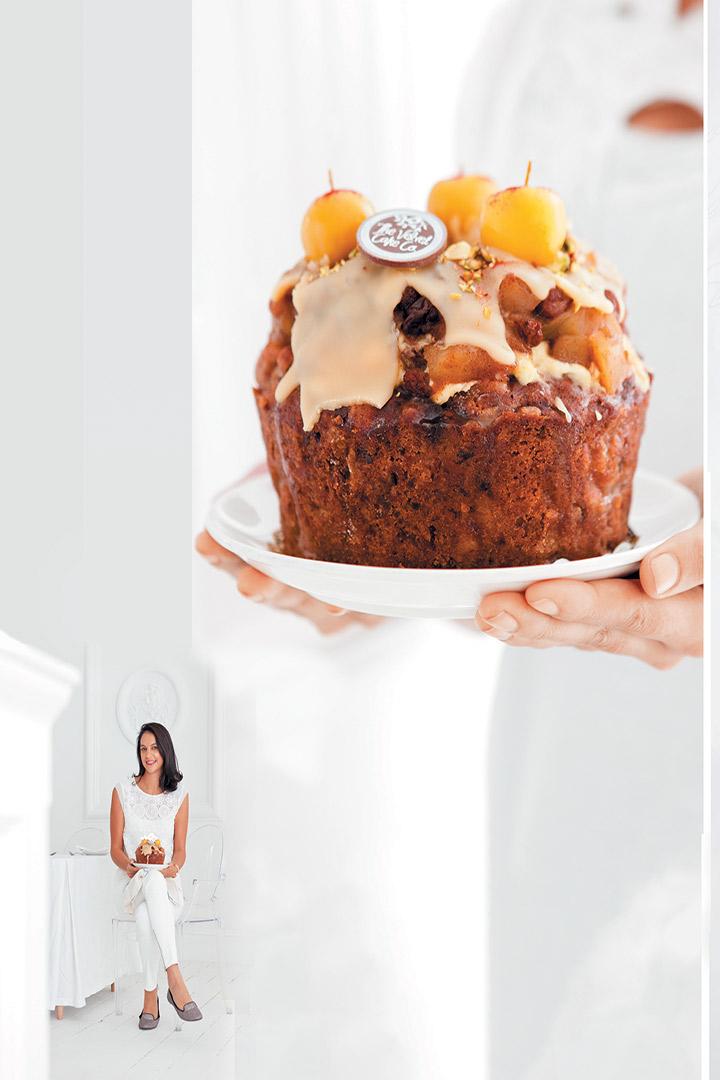 Spiced apple butterscotch cake recipe