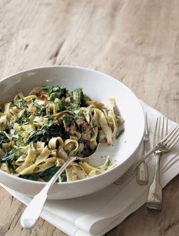 Sweet potato, spinach and coconut pasta recipe