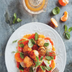 ClemenGold-glazed scallops with fennel and grapefruit salad