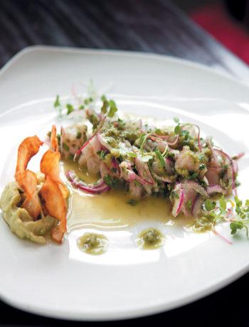 Peruvian style lemon-cured raw fish with chilli, onion and coriander recipe