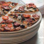 Mushroom, chorizo and chilli pizza