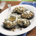 Mushrooms stuffed with parsley, garlic and pine nuts