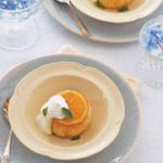 Orange and vanilla upside-down cakes