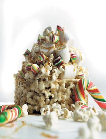 Popcorn and marshmallow cake recipe